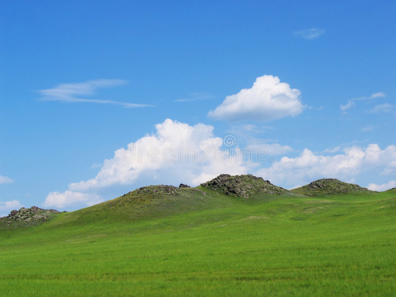 Landscape, hills, field royalty free stock photography
