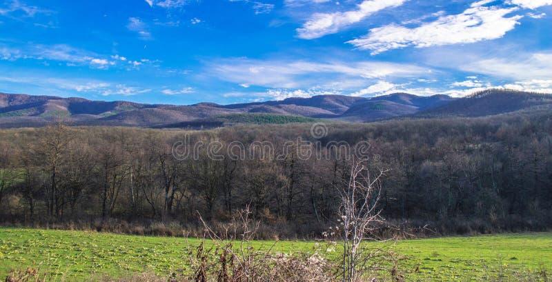 Landscape in hillside of Bulgaria stock photography