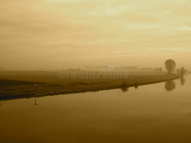Landscape in holland royalty free stock photography