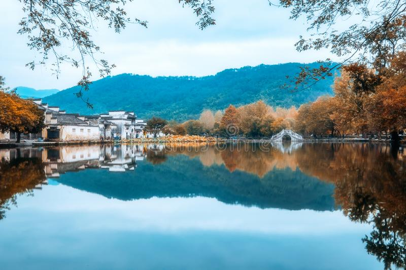 Landscape of Hongcun, Huangshan City, Anhui Province, China royalty free stock photography