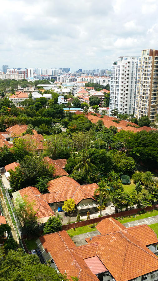 Landscape of Housing Estate in Singapore. This is one of Singapore`s private housing estate stock photo