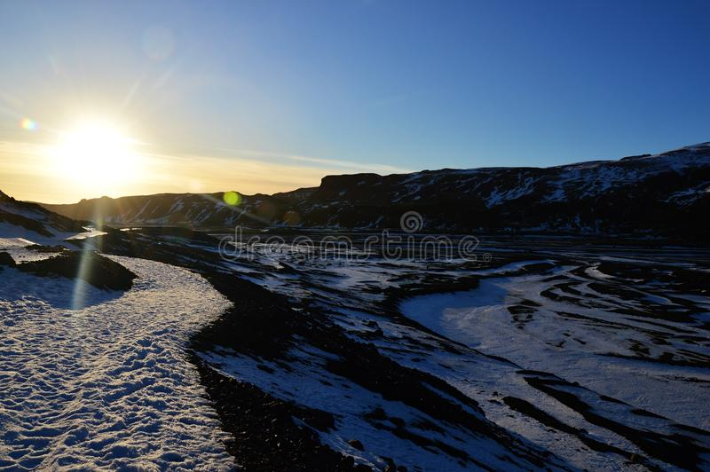 The landscape in Iceland stock images