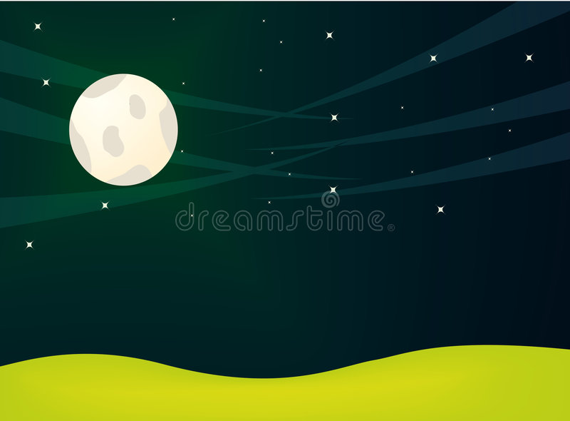 Landscape illustration royalty free stock images