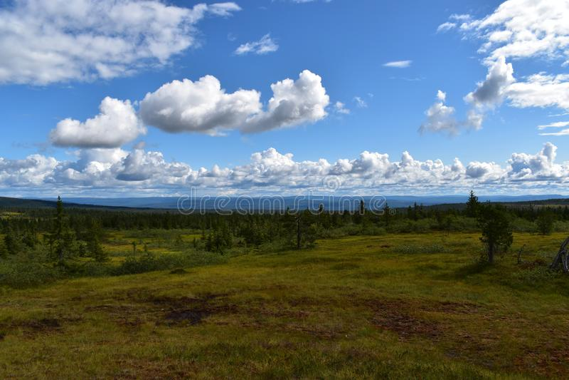 Landscape image in Løten Hedmark county Norway stock photo