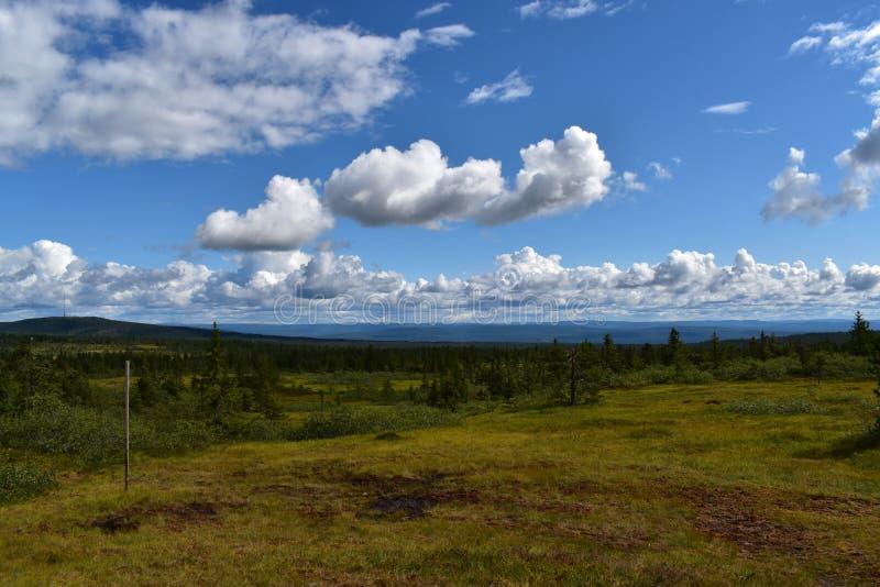 Landscape image in Løten Hedmark county Norway stock image