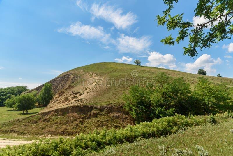 Landscape image of Titel Hill serbian: Titelski breg, Serbia. royalty free stock image