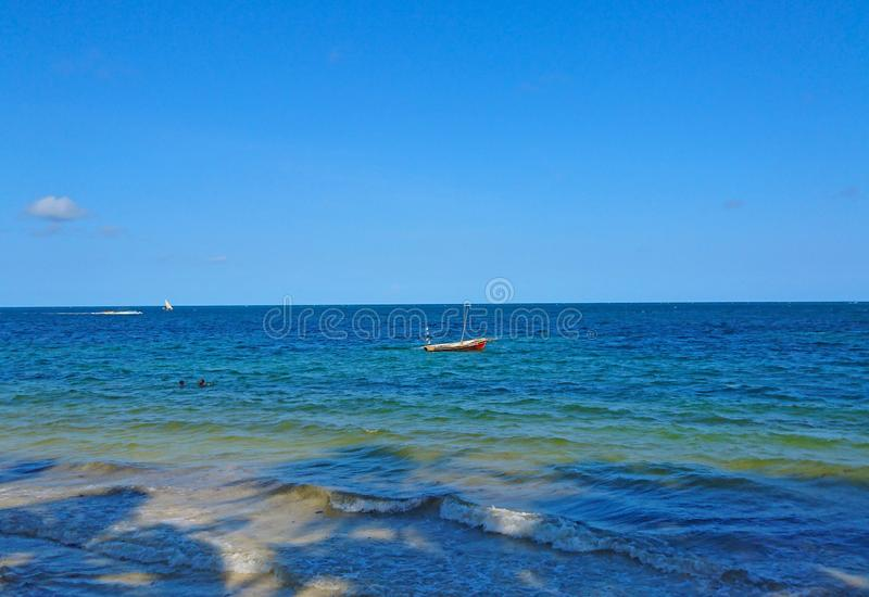 Landscape of Indian Ocean view stock image