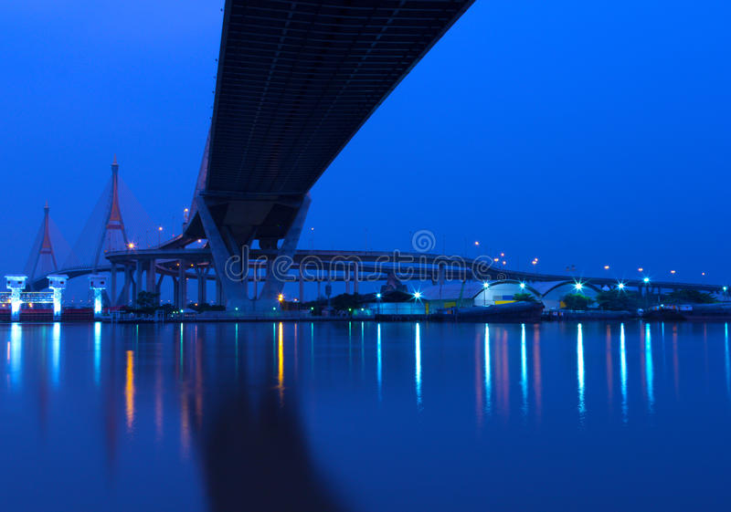 Landscape Industrial of the bridge royalty free stock photo