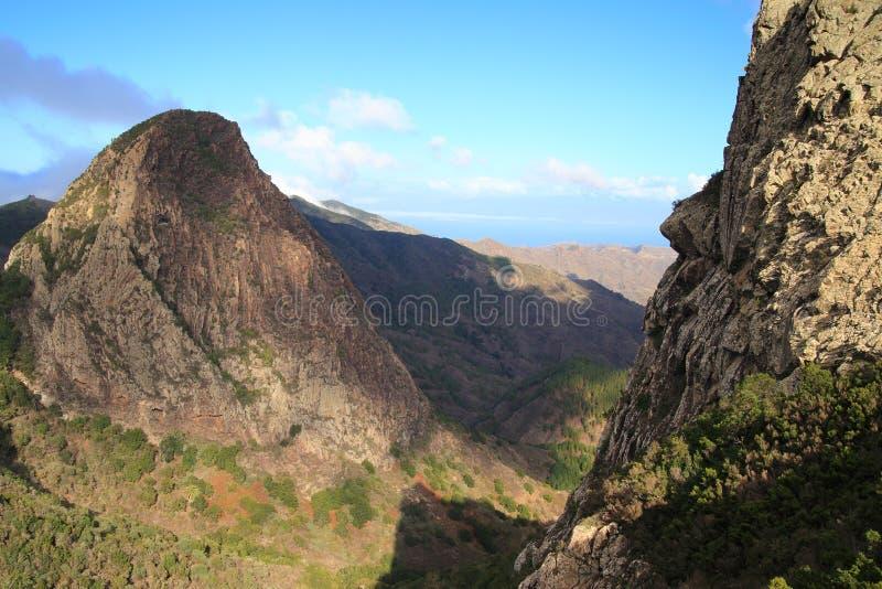 Landscape of the island of La Gomera stock image