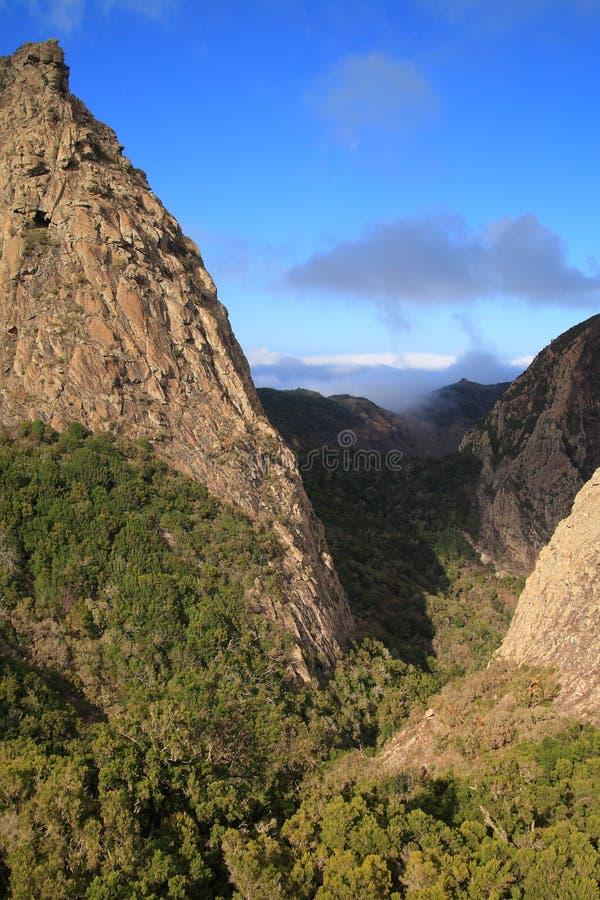 Landscape of the island of La Gomera stock images