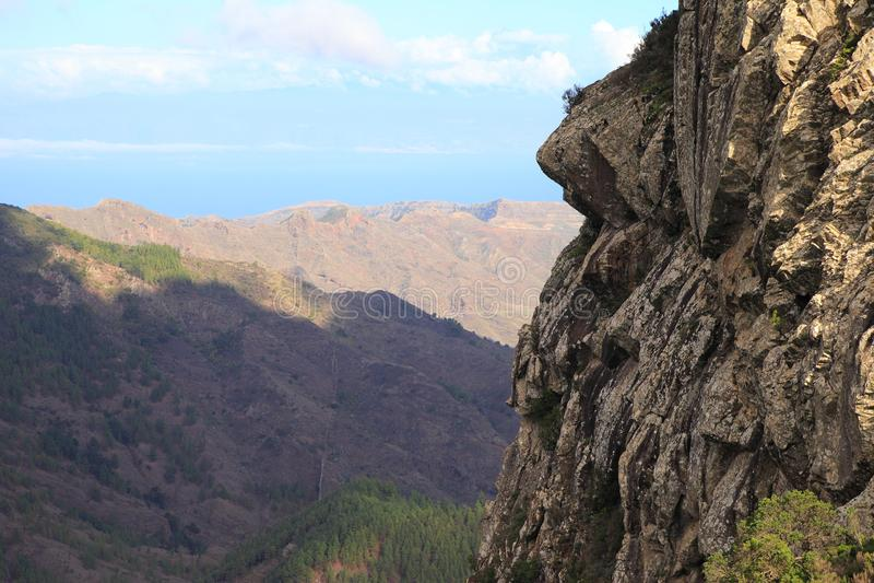 Landscape of the island of La Gomera stock photos