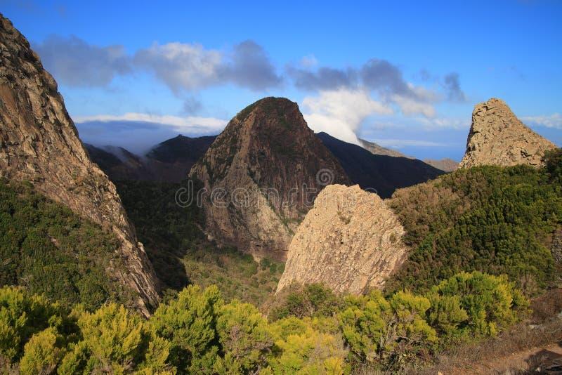 Landscape of the island of La Gomera stock photography