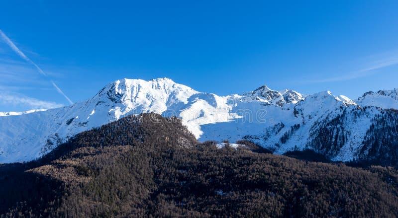 Italian Alps landscape view from Pragelato. Landscape Italian Alps landscape view from Pragelato stock image
