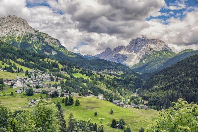 Landscape in the italian Dolomites stock photos