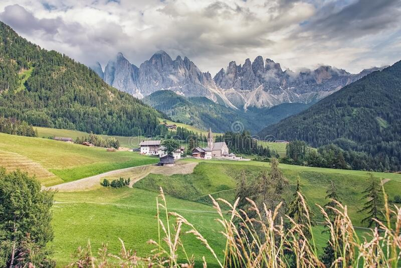 Landscape in the italian Dolomites stock photography