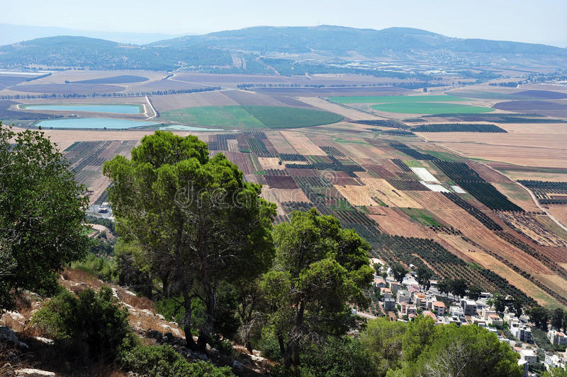 Landscape of Izrael Valley Israel royalty free stock image