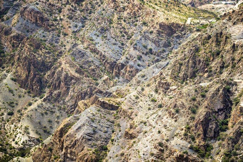 Landscape Jebel Akhdar Oman stock photos