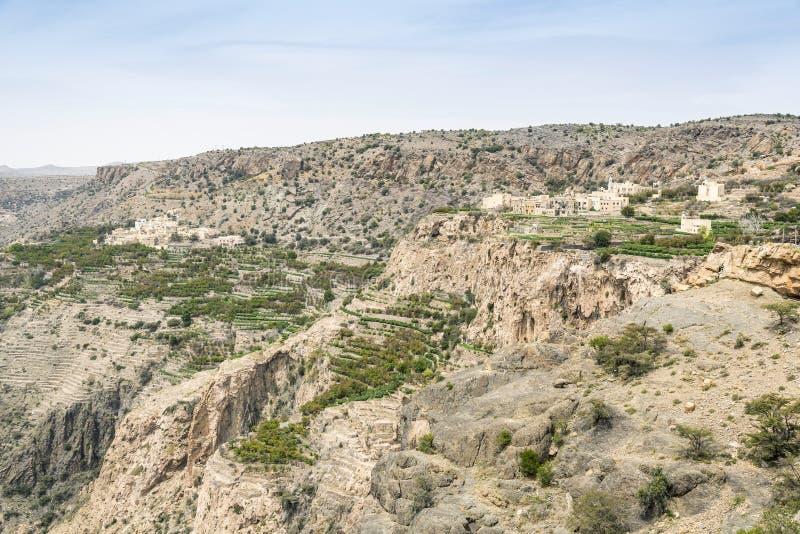 Landscape Jebel Akhdar Oman stock image