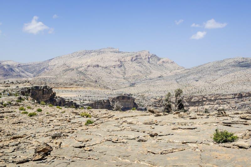Landscape Jebel Shams stock photography