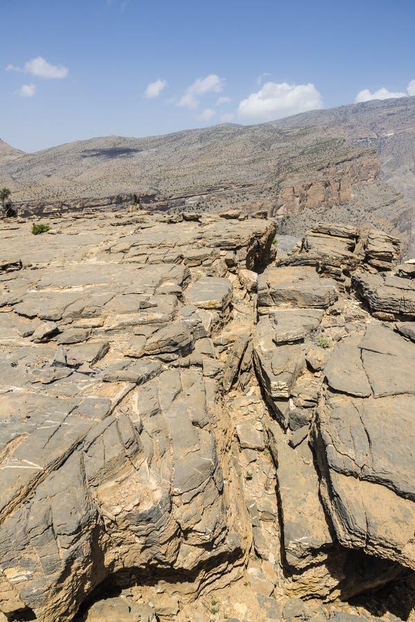 Landscape Jebel Shams royalty free stock images