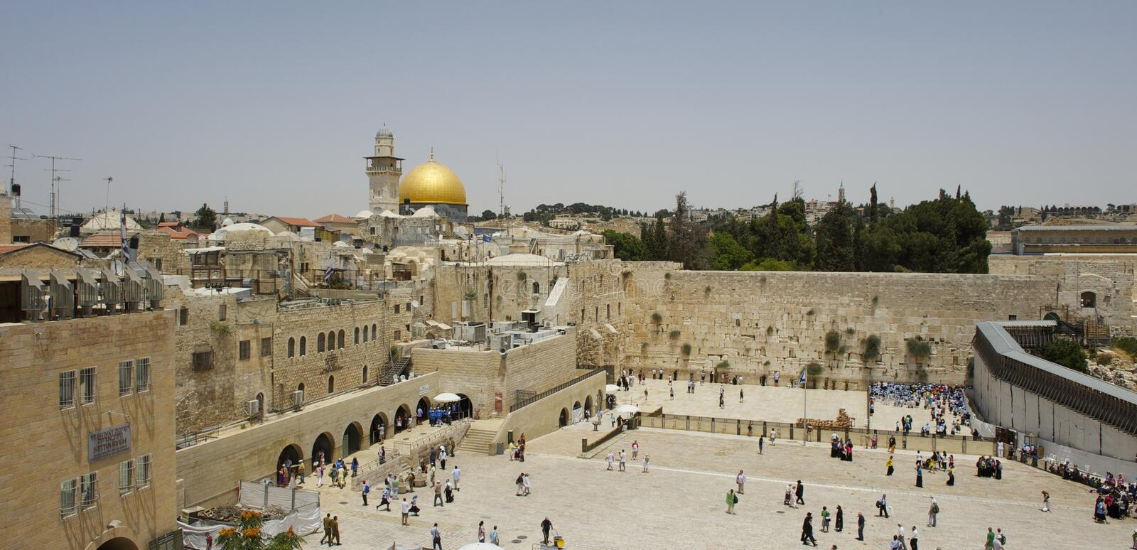 Landscape of jerusalem stock image