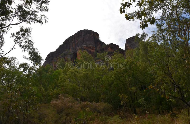 Landscape of the Kakadu National Park at Nourlangie. Kakadu's popular Burrungkuy Nourlangie region is known for its World Heritage rock art, colourful royalty free stock photo