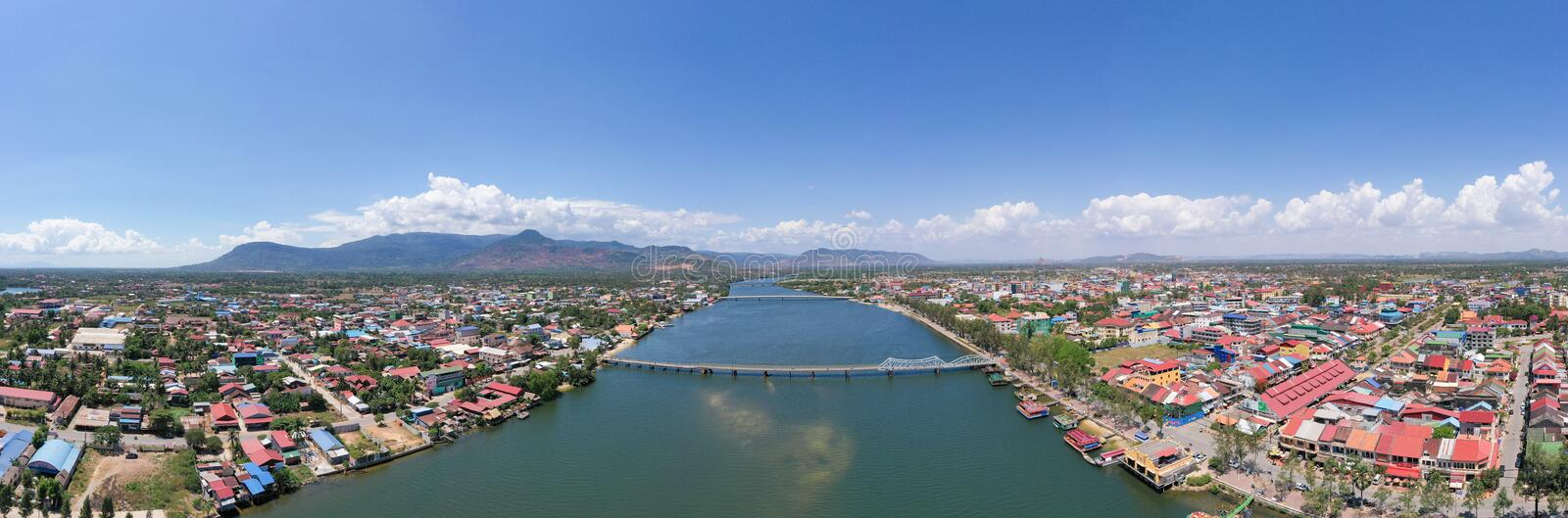 Landscape at Kampot - Cambodia. Kampot city is a sea city with nice beach and famous durian royalty free stock photos