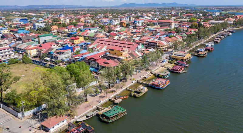 Landscape at Kampot - Cambodia. Kampot is a sea city with nice beach and famous durian stock photography