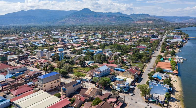 Landscape at Kampot - Cambodia. Kampot is a sea city with nice beach and famous durian royalty free stock images