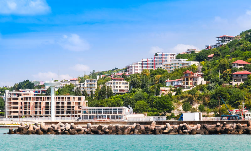 Landscape of Kavarna, coastal town, Bulgaria. Landscape of Kavarna, coastal town and seaside resort in northeastern Bulgaria, Black Sea coast. Entrance to the stock photography