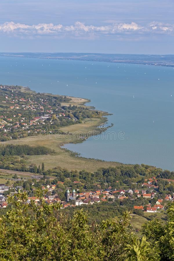 Landscape from a lake Balaton in Hungary royalty free stock photo