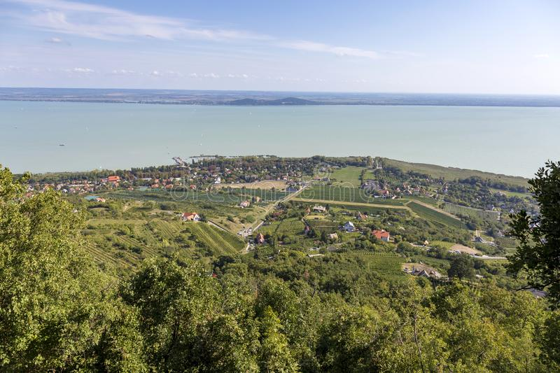 Landscape from a lake Balaton in Hungary stock photos