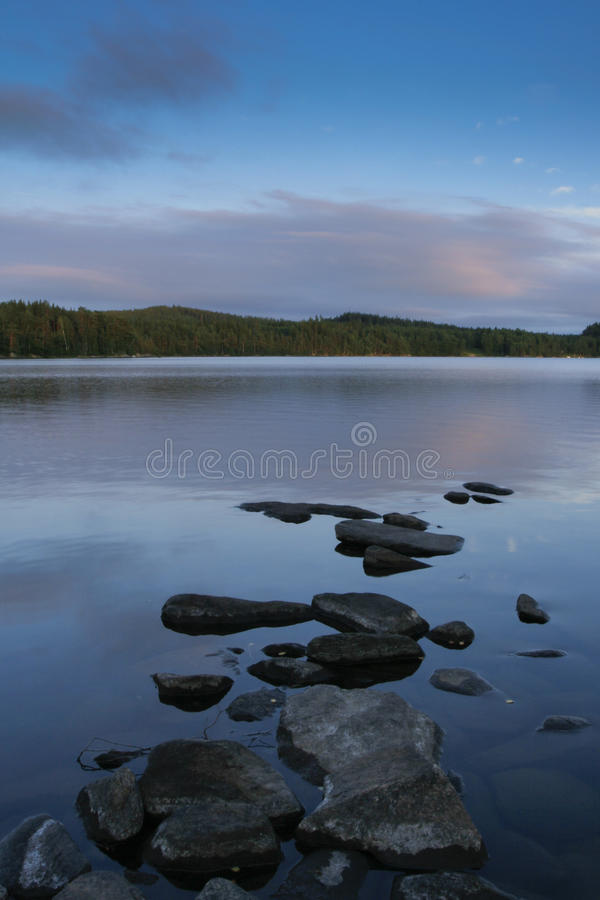 Landscape with lake royalty free stock image