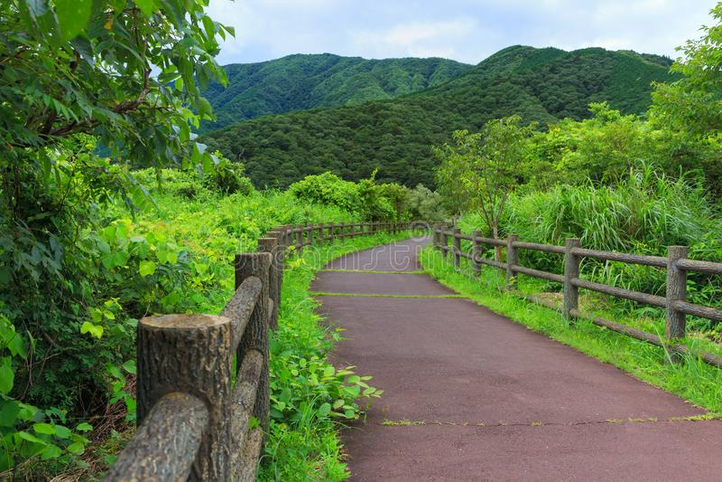 Landscape of lake tanuki at fujinomoya , japan. Landscape of lake tanuki at fujinomoya in japan stock image