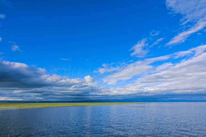 Lakeside scenery. The landscape of lakeside of Qinghai Lake in Qinghai, China stock photo