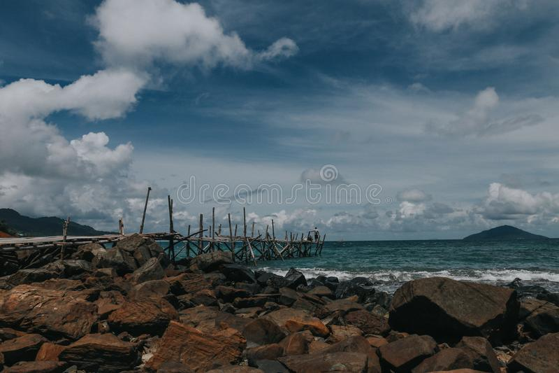 Landscape in lemukutan island. Beautiful landscape in lemukutan island,lemukutan is most beautiful hidden island in indonesia royalty free stock photography