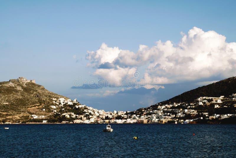 Landscape of Leros island, Dodecanese islands, Greece. Aegean sea, landscape of Leros island, Dodecanese islands, Greece royalty free stock photos