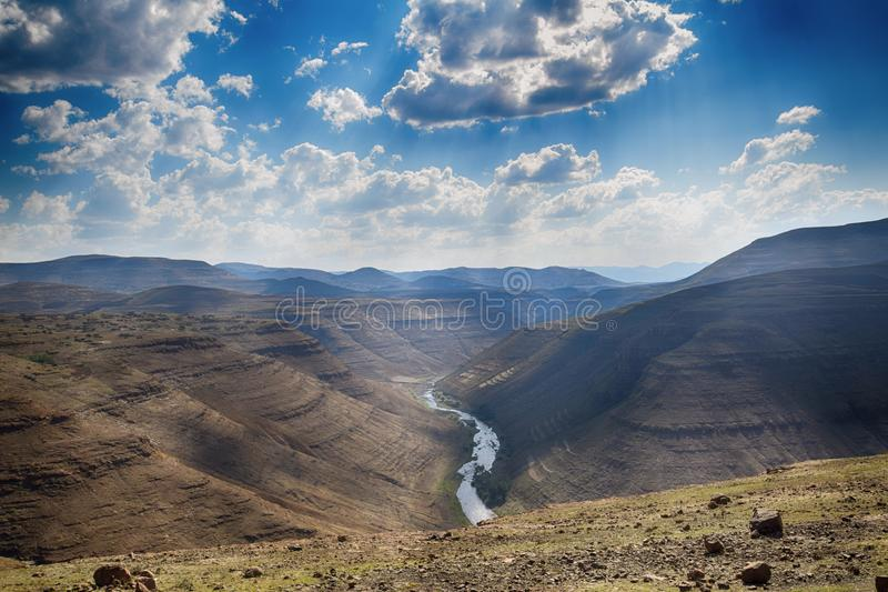 Landscape in Lesotho royalty free stock photography