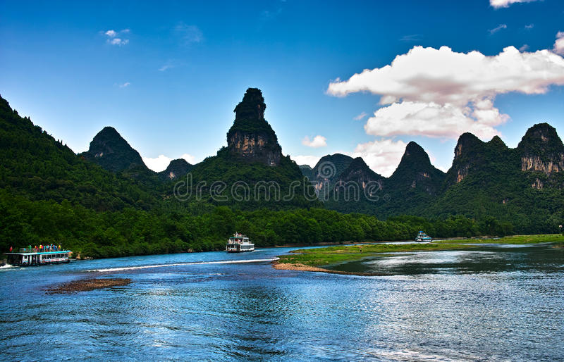 Landscape of lijiang river stock photography