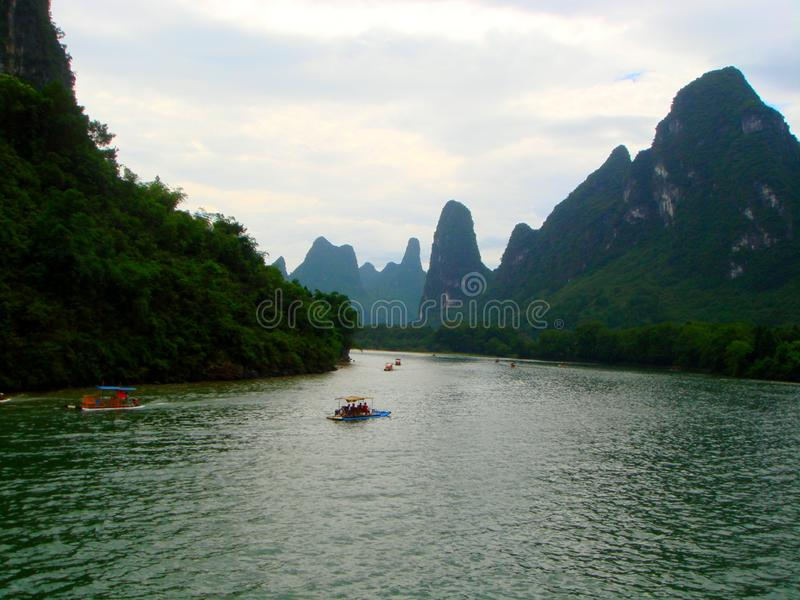 landscape of the lijiang river in guilin, guangxi royalty free stock images