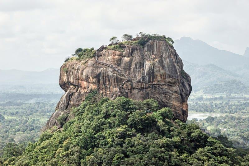 Landscape of lion rock Sigiriya stock photo
