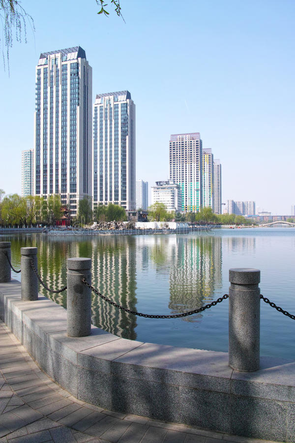 Download Park scenery stock photo. Image of taiyuan, lakeshore - 30210116