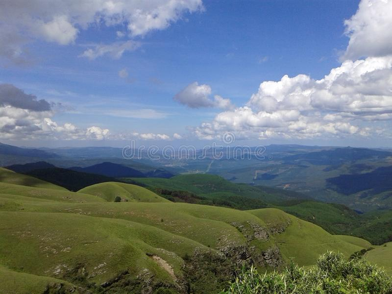 Landscape Lowveld SouthAfrica. Overlooking the mountains with Sabi in the distance - Lowveld SouthAfrica royalty free stock photos