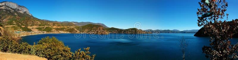 Landscape of lugu lake stock images