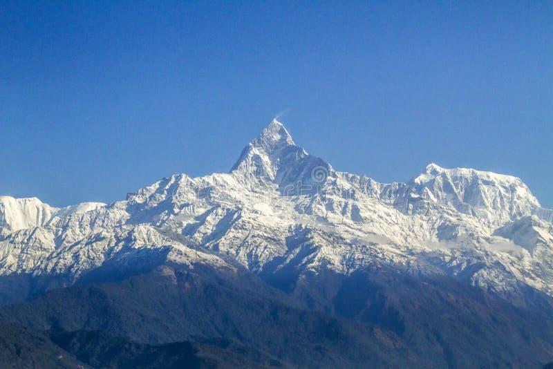 Landscape of Machapuchare Himalaya, Nepal royalty free stock photo