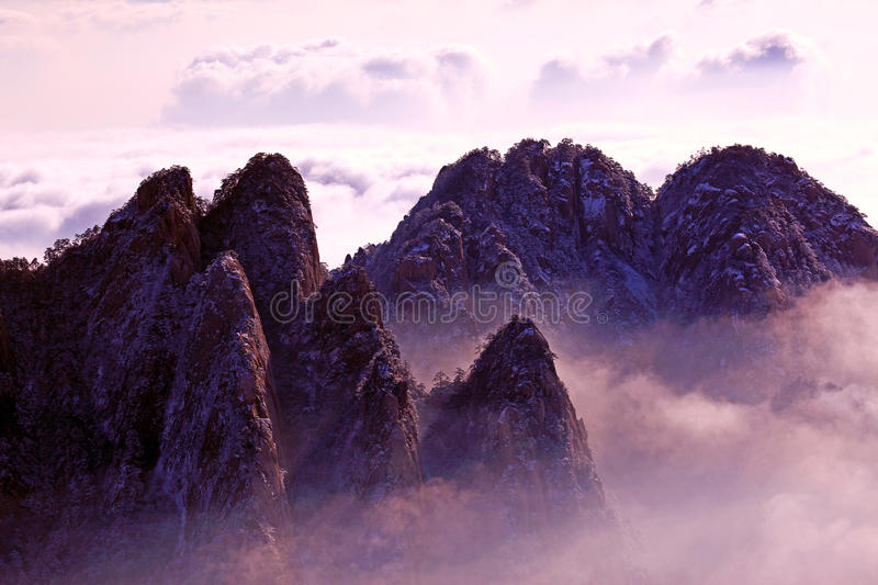 Landscape. The magnificent scenery in Mount Huangshan stock images