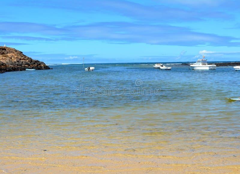 Landscape Majanicho beach in Fuerteventura Canary islands Spain stock images