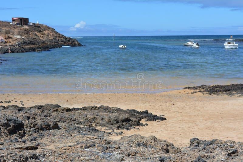 Landscape Majanicho beach in Fuerteventura Canary islands Spain royalty free stock photos