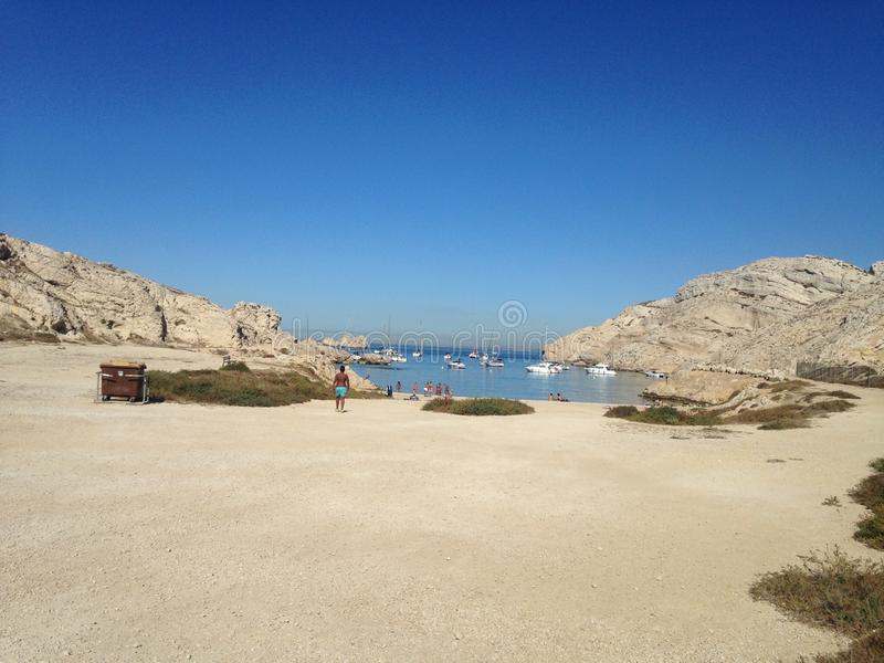Landscape from Marseille frioul stock photos