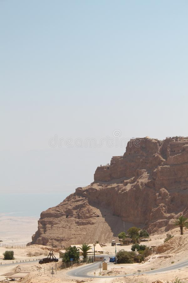 Masada Fortress Cliff, Israel stock photos